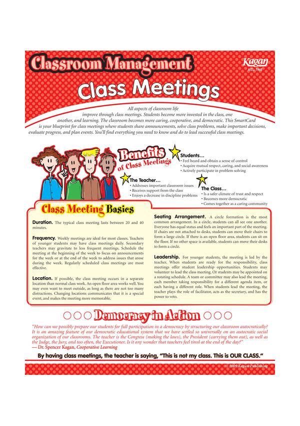 Smartcard classroom management class meetings kagan australia malvernweather Gallery